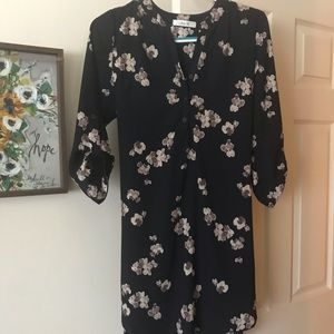 ModCloth Day for Night Floral Tunic In Navy